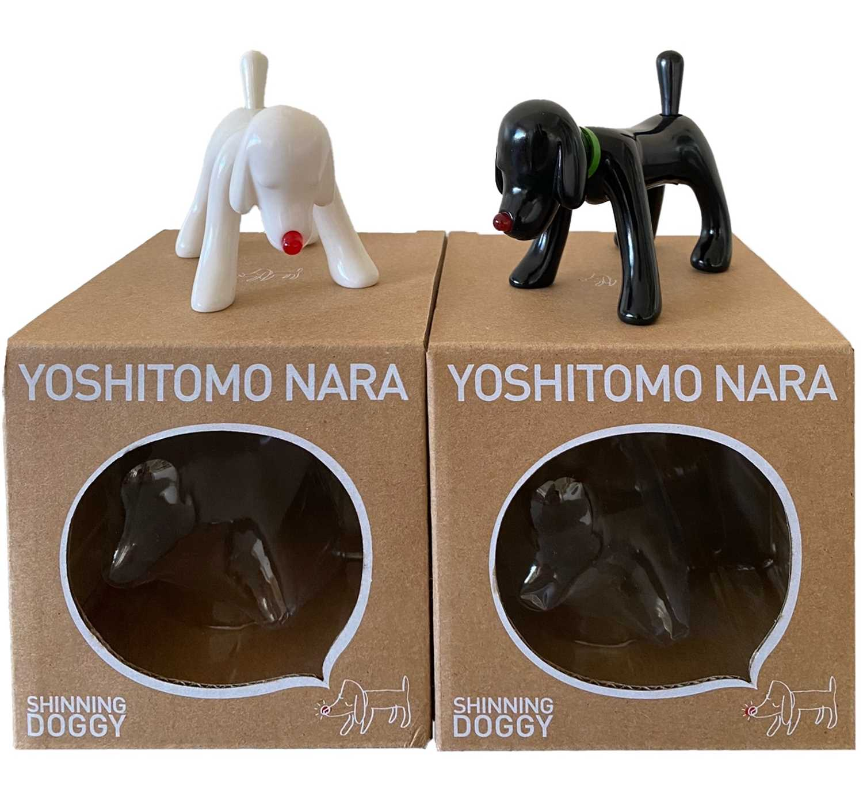Lot 98 - Yoshitomo Nara (Japanese 1959-), Shinning Doggy (Black & White), 2017