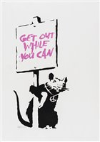519 - Banksy (British b.1974), 'Get Out While You Can (Pink)', 2004