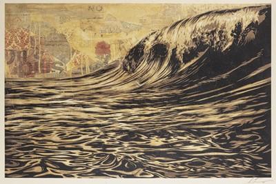 Lot 94 - Shepard Fairey (American 1970-), 'Dark Wave', 2019