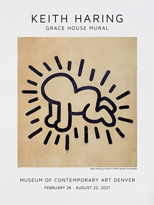 Lot 75 - Keith Haring (American 1958-1990), 'Grace House Mural', 2021